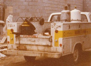 vintage photo of G.A. Bove Fuels truck