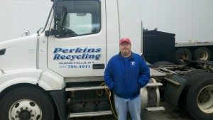 Perkins Recycling truck with driver