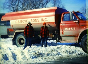 Frank Jr. with G.A. Bove Fuels truck